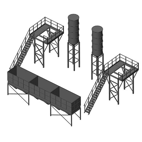 Cement and bulk materials storage silos